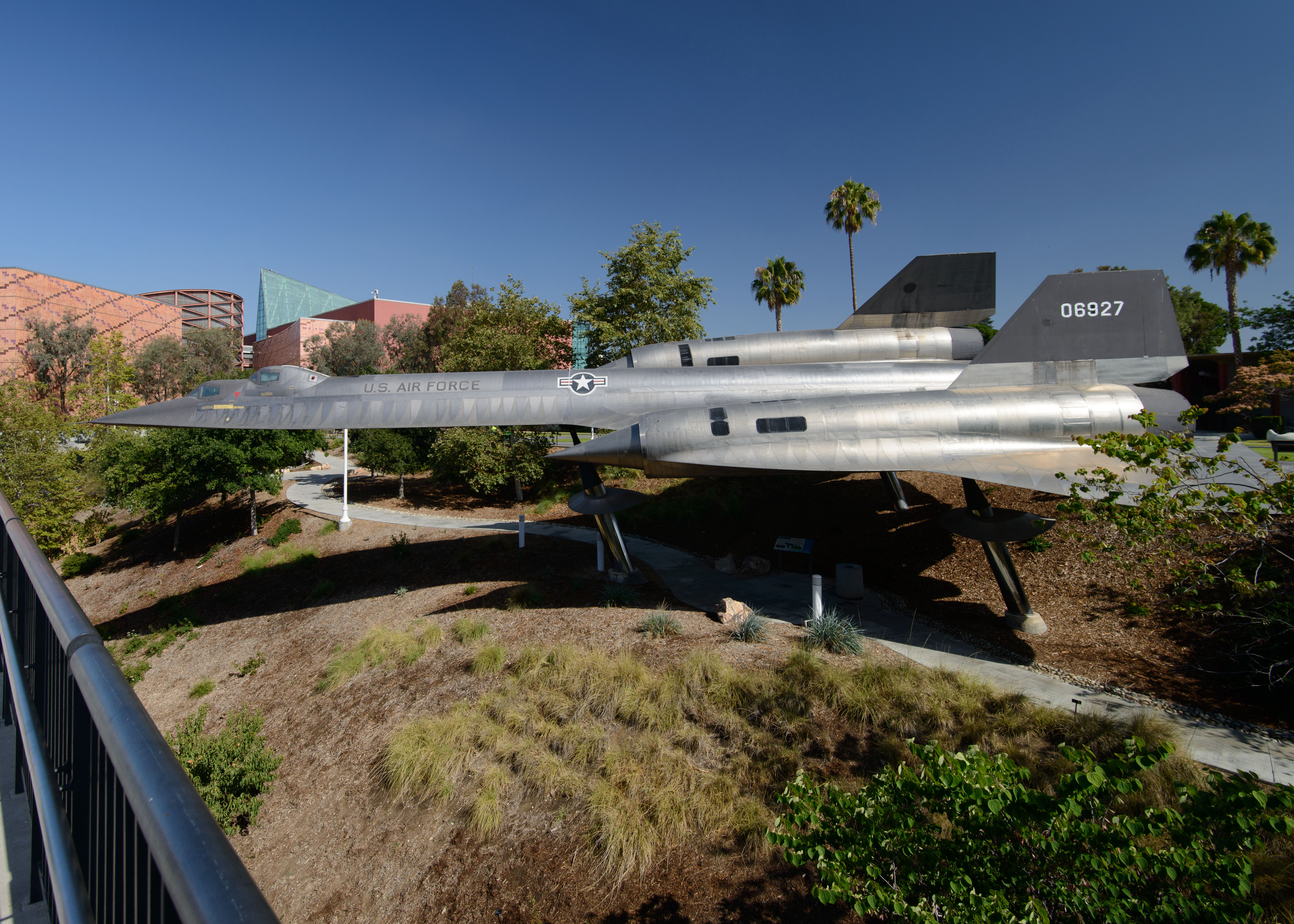 A-12 on display in the Roy A. Anderson Blackbird Exhibit and Garden