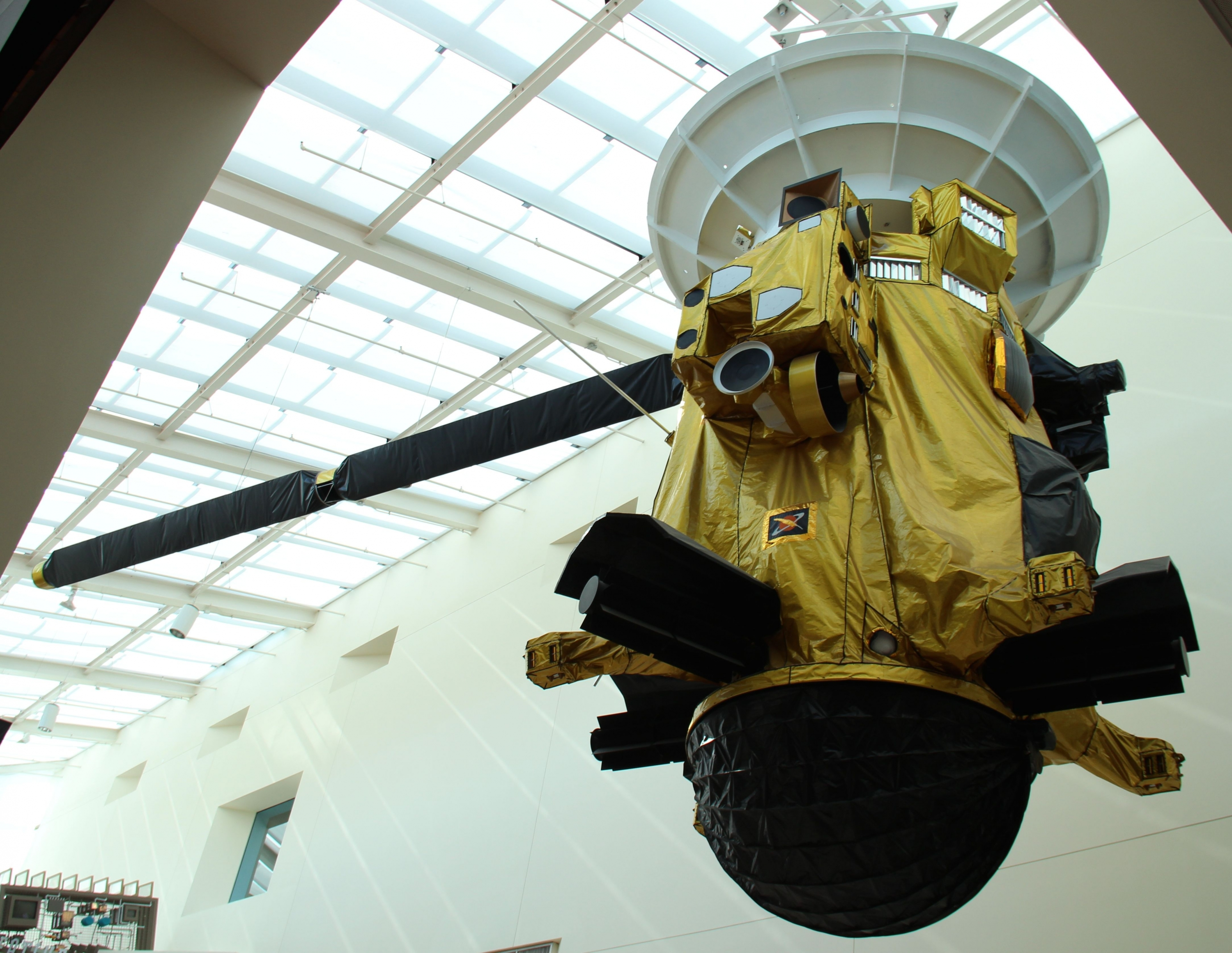 Cassini probe engineering model on display at the California Science Center